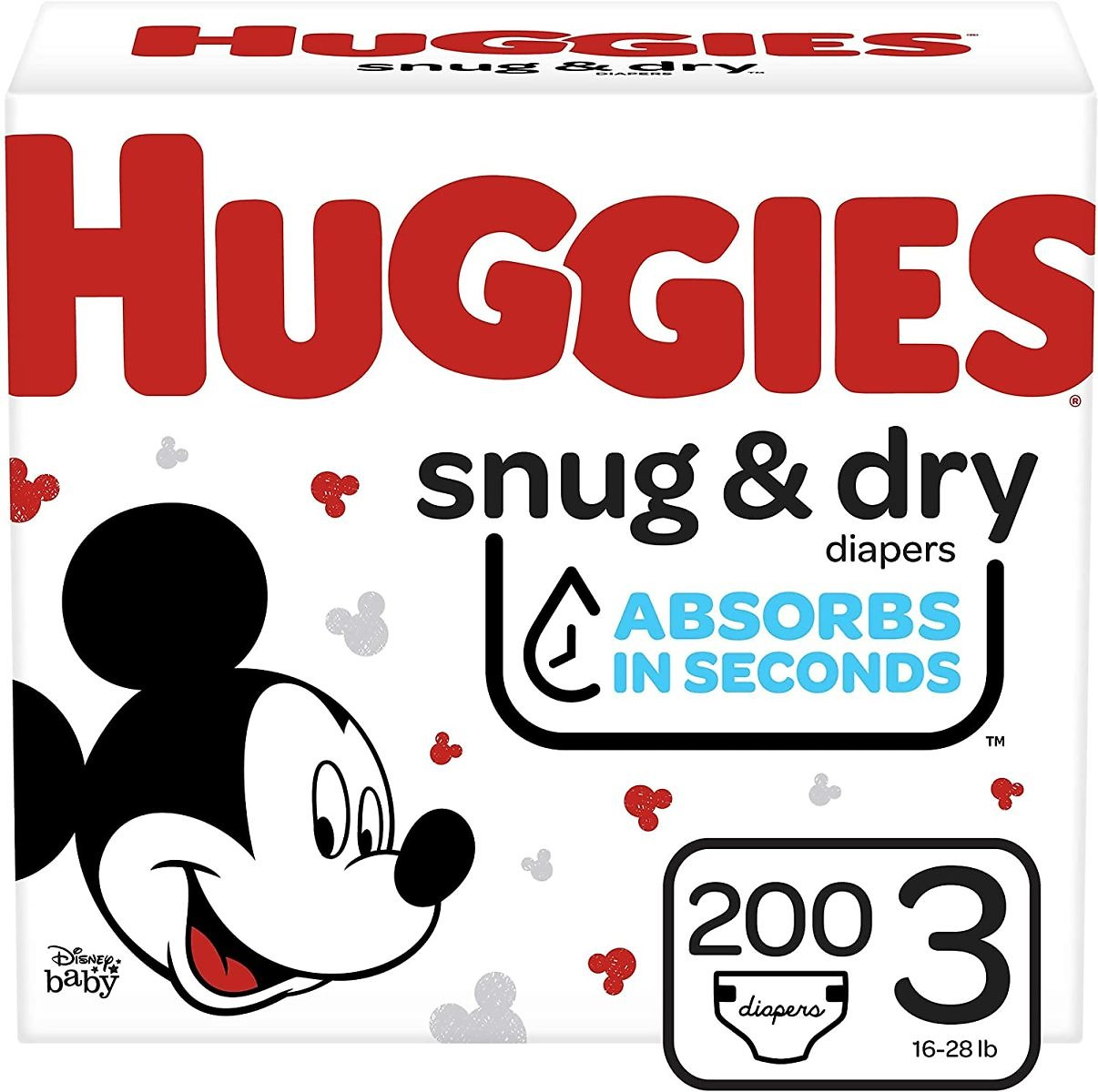 15% Discount - Huggies Snug & Dry Baby Diapers, Size 3, 200 Ct, One Month Supply