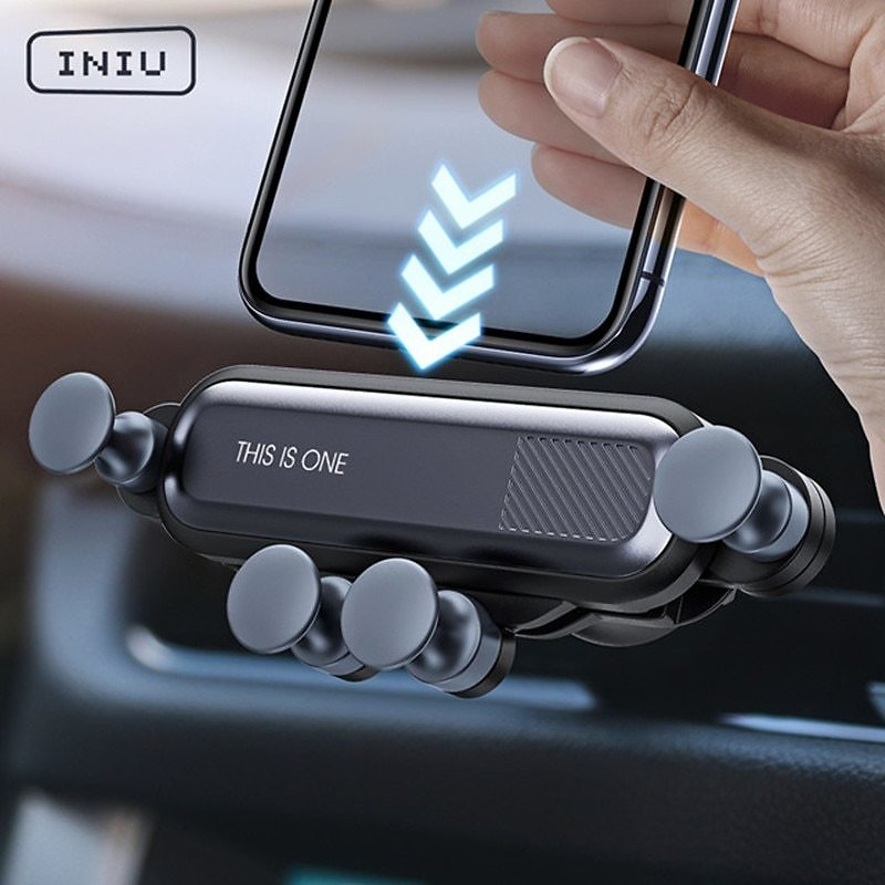 US $3.67 52% OFF|INIU Gravity Car Holder For Phone in Car Air Vent Clip Mount No Magnetic Mobile Phone Holder GPS Stand For IPhone 11 Pro Samsung|Phone Holders & Stands| - AliExpress