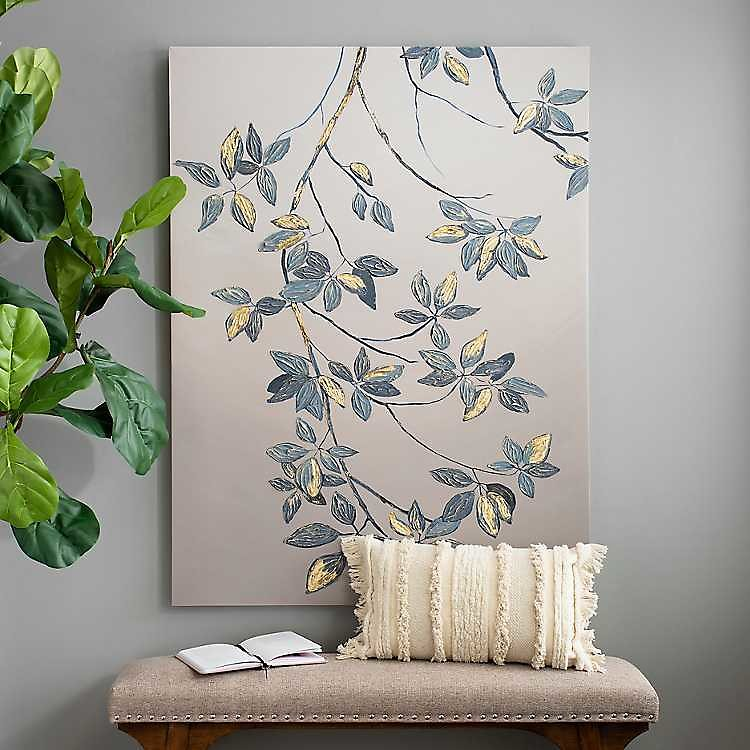 Golden Leaves Canvas Art Print