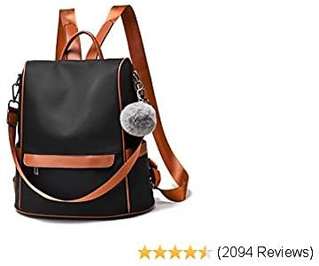 Women Backpack Purse Nylon Anti-theft Fashion Casual Lightweight Travel School Shoulder Bag
