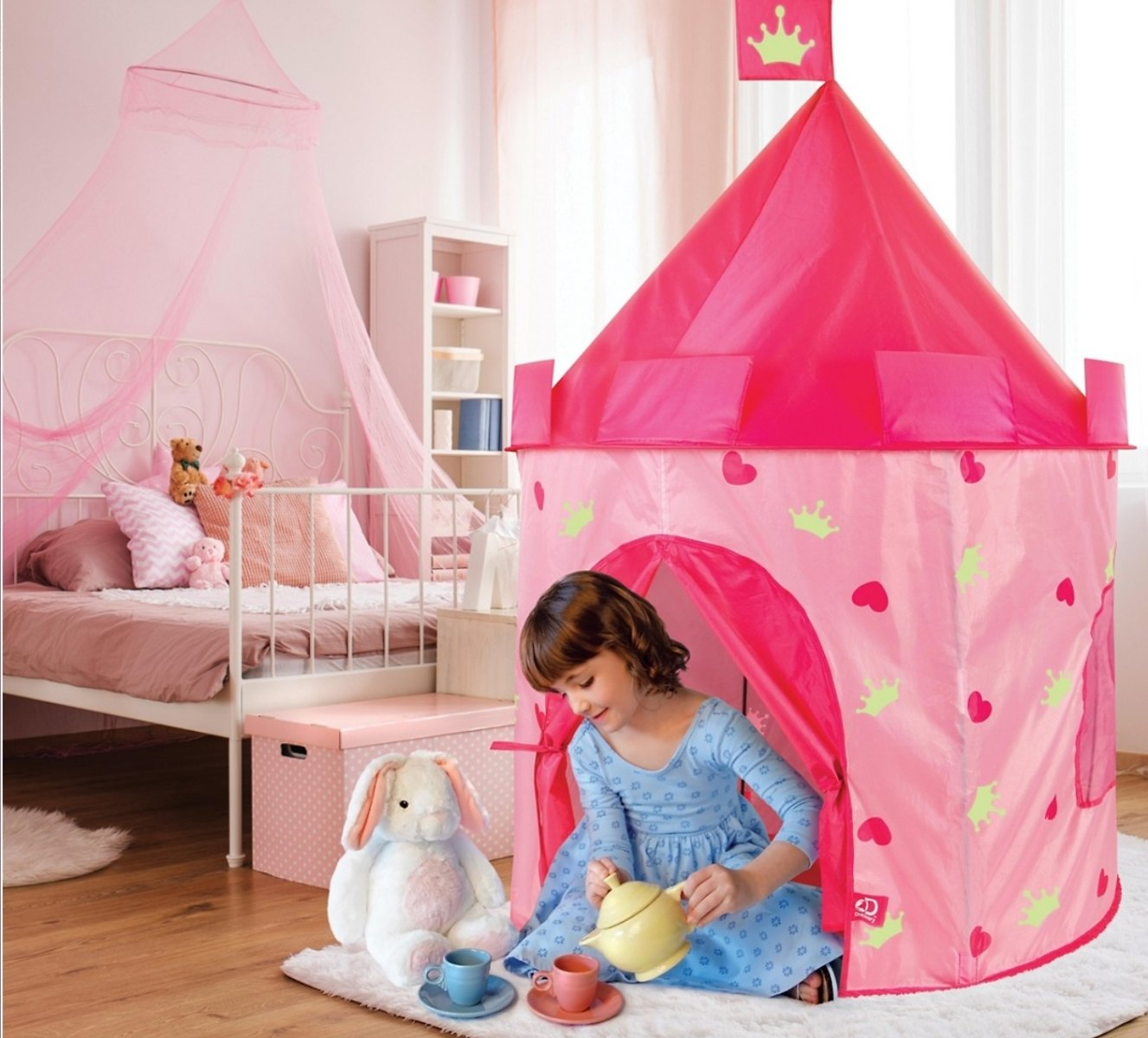 Discovery Kids Studio Mercantile Glow in The Dark Toy Tent Castle