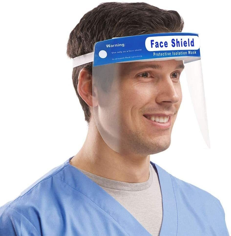 17% Discount - 3 Pieces Face Shields with 3 Bands and 3 Sponges for Man and Women to Protect Eyes and Face