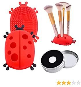 Ladybug Brush Cleaning Mat + Quick Color Removal Cleaner Sponge