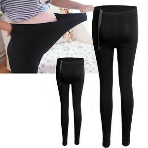 Pregnant Women Thick&Comfortable Warmer Leggings Maternity Pant Black Adjustable