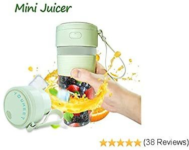 Portable Mini Blender, Youmeet Smoothie Blender 40W Personal Crusher USB Rechargeable Juicer Cup with Lid for Shakes Smoothies Frozen Fruits Food Preps Veggies Ice Home Office Sports Travel Outdoor