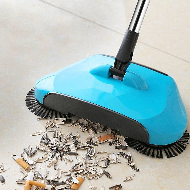 US $15.93 45% OFF|Stainless Steel Sweeping Machine Push Type Hand Push Magic Broom Dustpan Handle Household Cleaning Package Hand Push Sweeper Mop|Hand Push Sweepers| - AliExpress