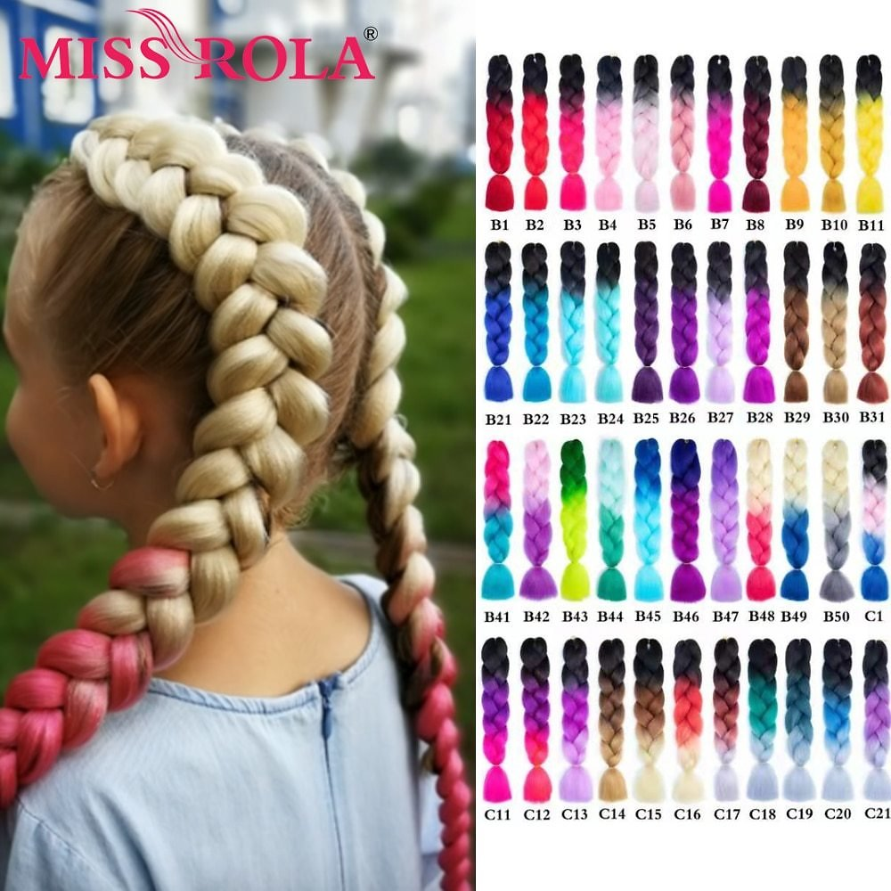 US $4.7 |Miss Rola 100g 24 Inch Single Ombre Color Synthetic Hair Extension Crochet Twist Jumbo Braiding Kanekalon Hair|hair Hair|hair Color Toneshair Color - AliExpress