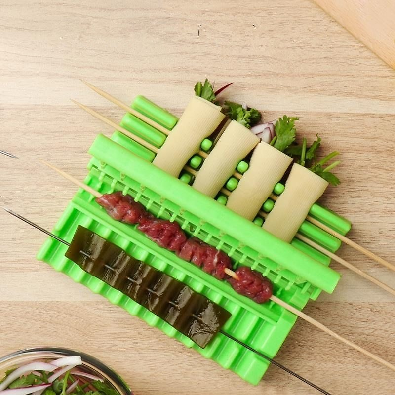 US $4.65 11% OFF|Barbecue Stringer Skewers Kebab Maker Box Machine Beef Meat Vegetable String Grill Barbecue Kitchen Accessories BBQ Gadget|Skewers| - AliExpress