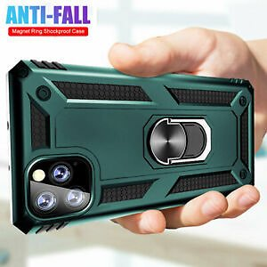 For IPhone 11 Pro X XS Max XR 6s 7 8 Plus Case Shockproof Armor Ring Stand Cover
