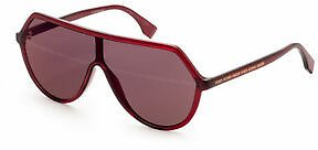 Fendi Women's FF-0377-S-0C9A Fashion Red 52mm Sunglasses
