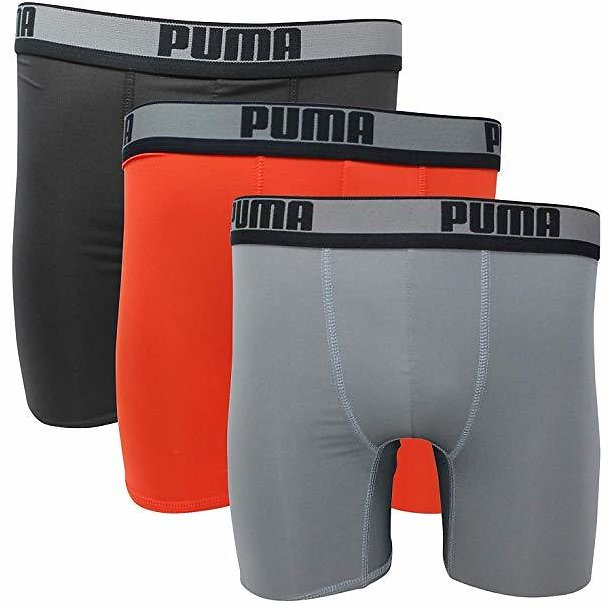 PUMA - PUMA MEN'S UNDERWEAR 3 PACK - BOXER BRIEF - RED BLACK LARGE - PERFORMANCE