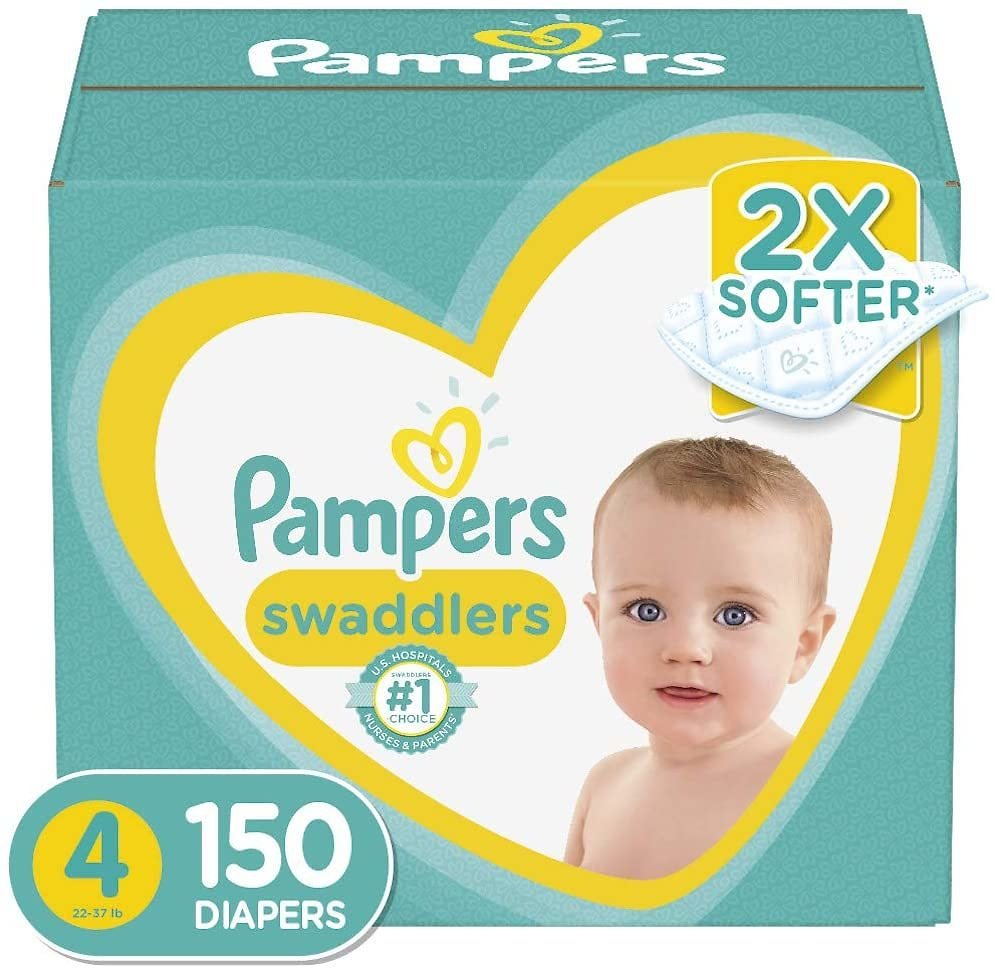 6% Discount - Baby Diapers Size 4, 150 Count - Pampers , ONE MONTH SUPPLY