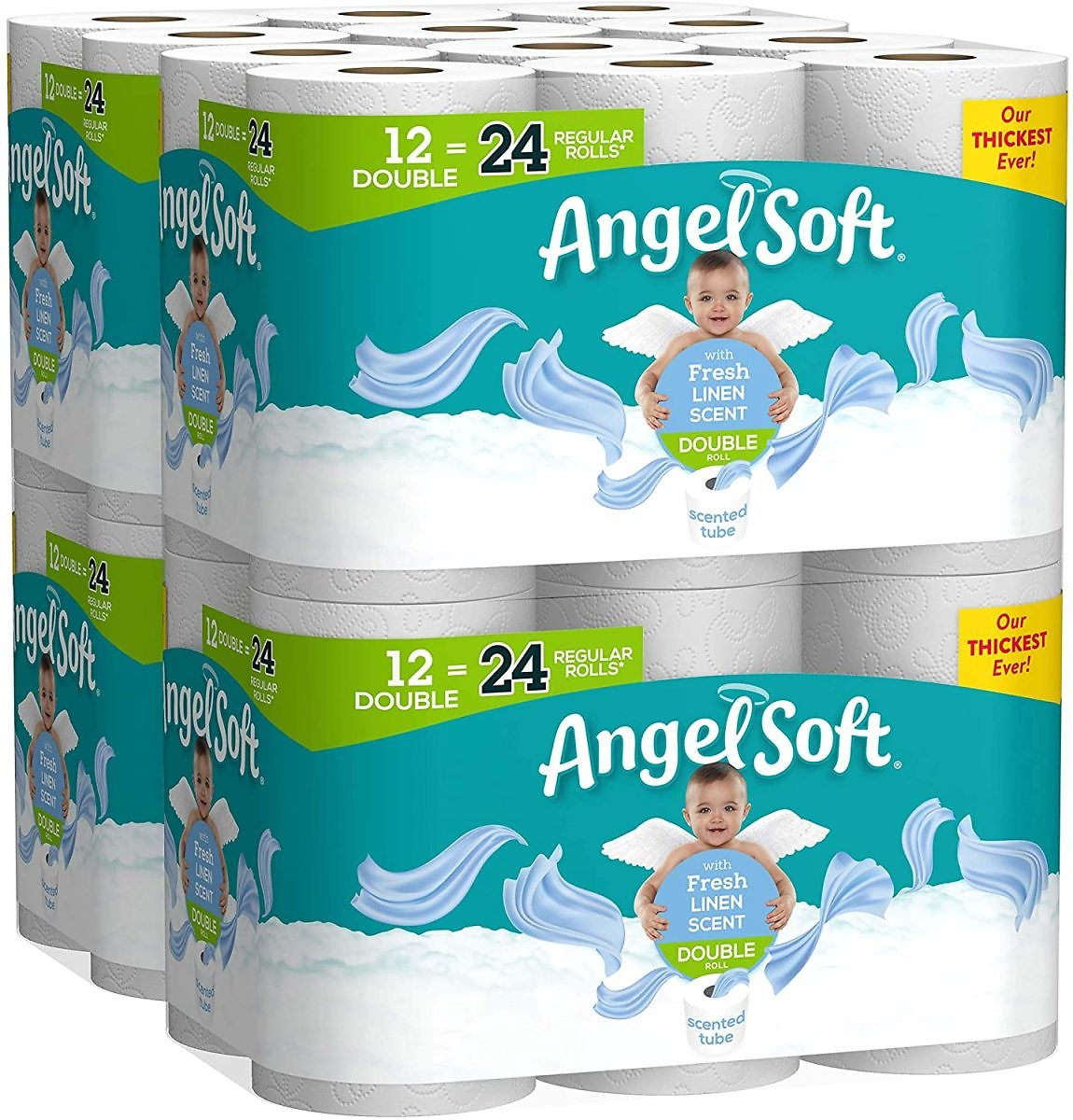 4-Pk Angel Soft Toilet Paper (12-Count)