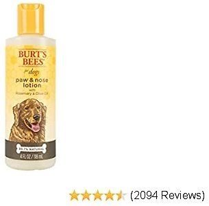 Burt's Bees for Dogs All-Natural Paw & Nose Lotion with Rosemary & Olive Oil | Dog Product For All Dogs and Puppies, Gentle and Easy to Use Paw & Nose Lotion, 4 Ounces