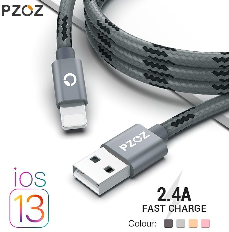 US $0.99 50% OFF PZOZ Usb Cable For Iphone  11 Pro Max Xs Xr X SE 2 8 7 6 Plus 6s 5s Ipad Air Mini 4 Fast Charging S For Iphone Charger usb  for Iphone  Mobil for - AliExpress