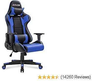 Homall Gaming Chair Office Chair High Back Computer Chair PU Leather Desk Chair PC Racing Executive Ergonomic Adjustable Chair