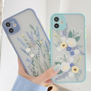 Lavender Flower Leaf TPU Case Cover For IPhone 11 Pro XS Max SE 2020 XR X 8 Plus