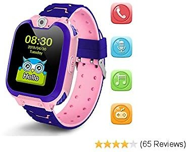 Kids Smartwatch Girls and Boys,Colorful Touch Screen Waterproof Smartwatch with Camera Games Alarm Touch Screen SOS Call Voice Chatting Christmas Birthday Gift Students Teens