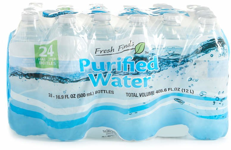 Fresh Finds 16.9 Oz. Purified Water, 24-Pack