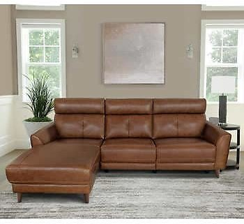 Brevin Leather Power Reclining Sectional