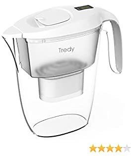 Tredy Water Filter Pitcher,Large Water Purifier Pitcher with 1 Filter Effectively Filter Out Rust,Sand,Lead,Residual Chlorine Substance for Drinking Water