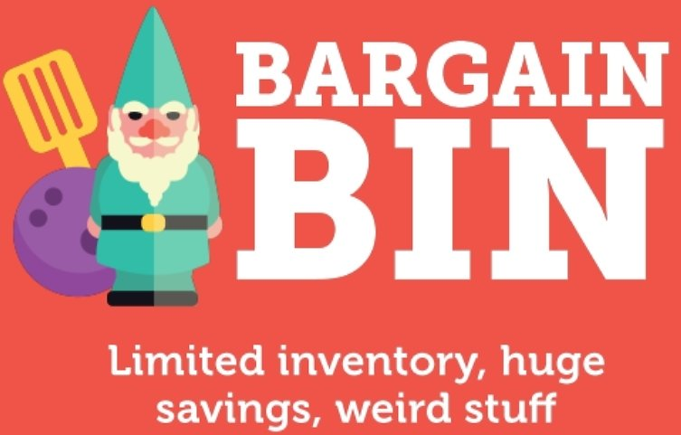 Bargain Bin Sale + Free Shipping for Prime Members On Woot!