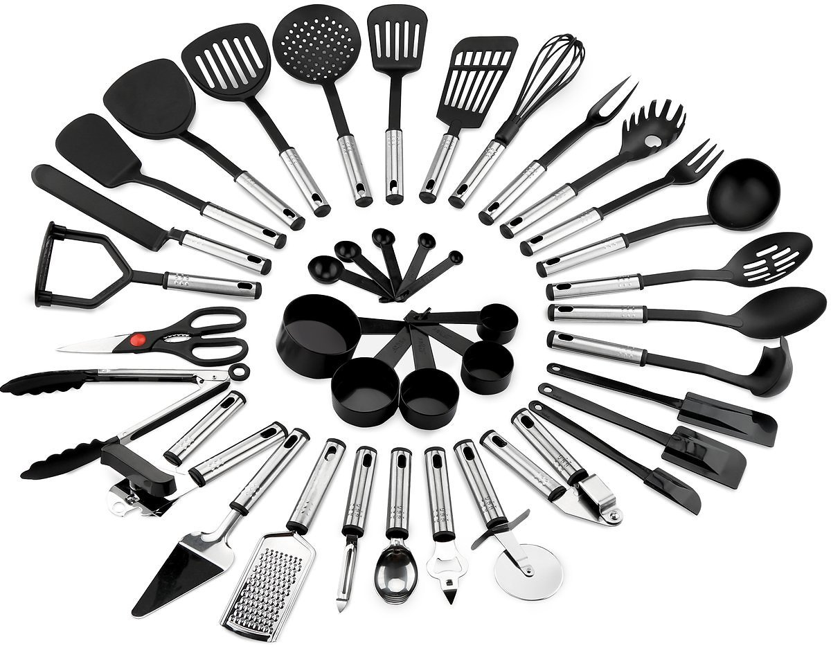 39-Piece Stainless Steel and Nylon Cooking Utensil Set
