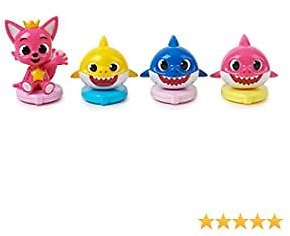 WowWee Pinkfong Baby Shark Official Surfers - Baby Shark Family and Friends 4-Pack