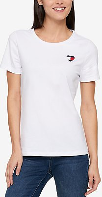 Tommy Hilfiger Embroidered T-Shirt, Created for Macy's & Reviews - Tops - Women