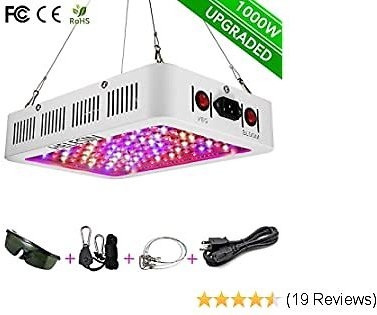 HELESIN 1000w LED Grow Light with Bloom & Veg Switch and Daisy Chained Design,Full Spectrum Led Grow Lamps for Indoor Greenhouse Hydroponic Plants and Flowers
