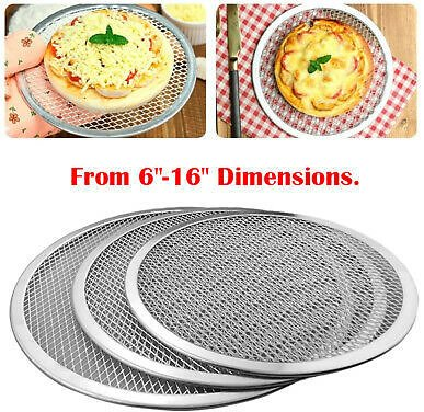 Aluminum Mesh Grill Pizza Screen Round Baking Tray Net Kitchen Tools Ovens Kit