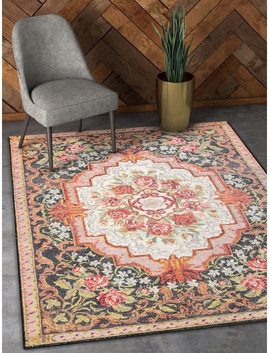 Well-Woven-Machine-Washable-Posh-Lateren-Eclectic-Vintage-Rustic-Floral-Blush-Black-5-x-7-Area-Rug/86