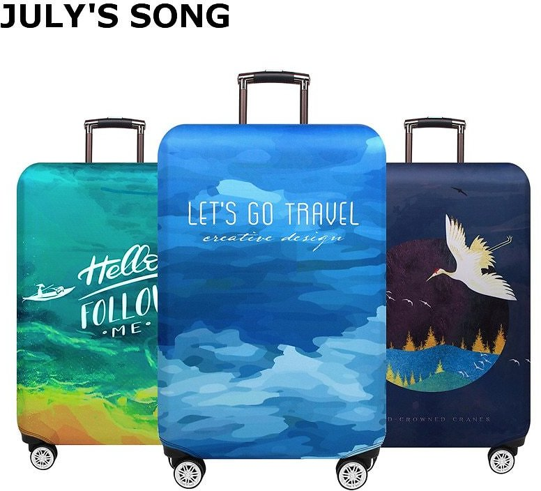 US $8.7 28% OFF|JULY'S SONG Trolley Luggage Protctive Cover Travel Suitcase Case Elastic Suitcase Protective Covers For 18 32 Inch Luggage Cover|Travel Accessories| - AliExpress