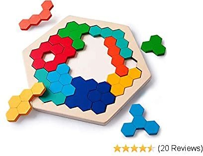 Wooden Hexagon Puzzle Toy