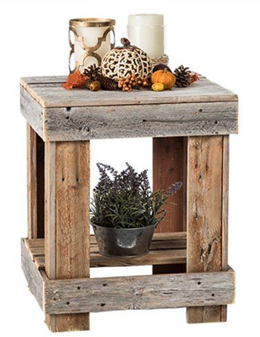 Del Hutson Reclaimed Wood End Table (Ships Free)