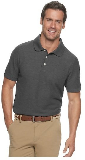 Croft & Barrow Mens Easy-Care Pique Polo Mens