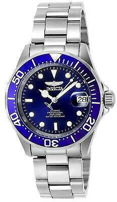 Invicta Men's Watch Pro Diver Automatic Blue Dial Stainless Steel Bracelet 9094 843836090940