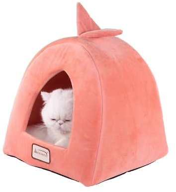 Armarkat Condo Cat Bed in Orange and Ivory, 14