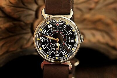 Pobeda Zim Wristwatch Pilot Komandirskie Men's Wrist Mechanical Military