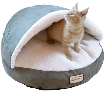 Armarkat Canopy Cat Bed in Laurel and Ivory, 20