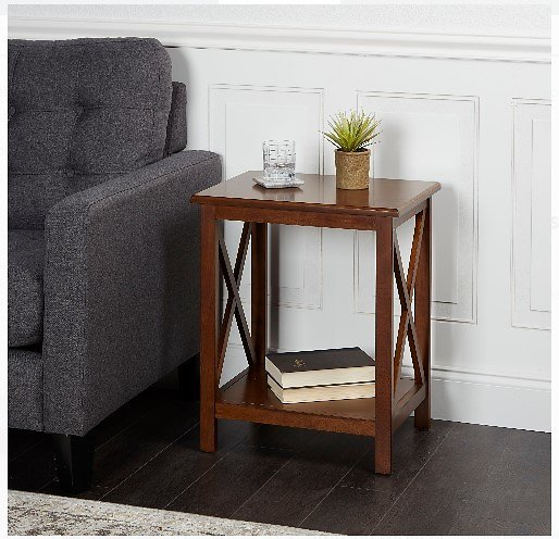 Better Homes & Gardens Accent Table Clayton Rectangle Wood