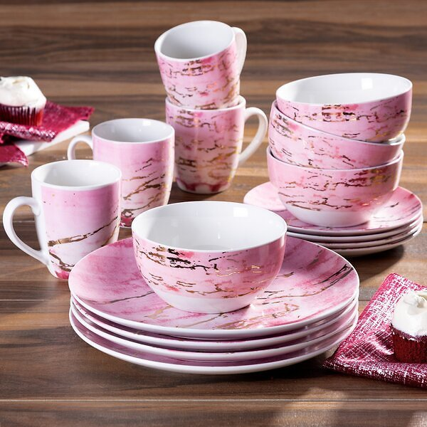 Hoekstra 16 Piece Stoneware Full Set, Service for 4