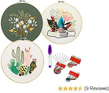 3 Pack Full Range of Stamped Embroidery Starter Kit
