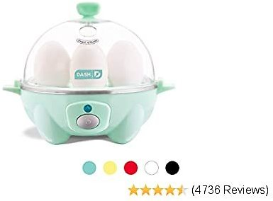 Dash Rapid Egg Cooker: 6 Egg Capacity Electric Egg Cooker with Auto Shut Off Feature - Aqua