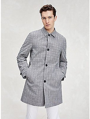 TH Flex Glen Plaid Car Coat | Tommy Hilfiger