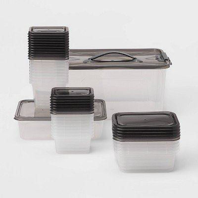 50pc Food Storage Container Set Gray - Room Essentials™