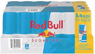 Red Bull Energy Drink, Sugar Free, 8.4 Fl Oz, 24-count (Online)