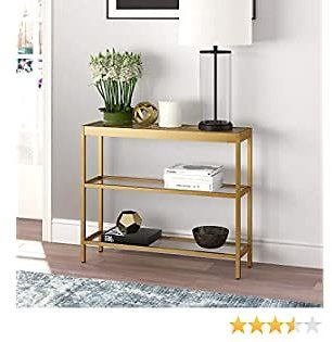 Henn&Hart Modern Console Sofa, 3-Tier Open Shelf Entryway/Hallway Table for Living Room, Multiple Colors/Sizes, 36