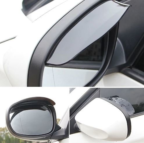 60% OFF2Pcs Universal Flexible PVC Car Accessories Rearview Mirror Rain Shade Rainproof Blades Car Back Mirror Eyebrow Rain Cove