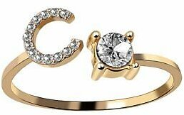 Letter C Gold Ring Women Knuckle Ring Finger Adjustable Fashion Jewelry HOT NEW